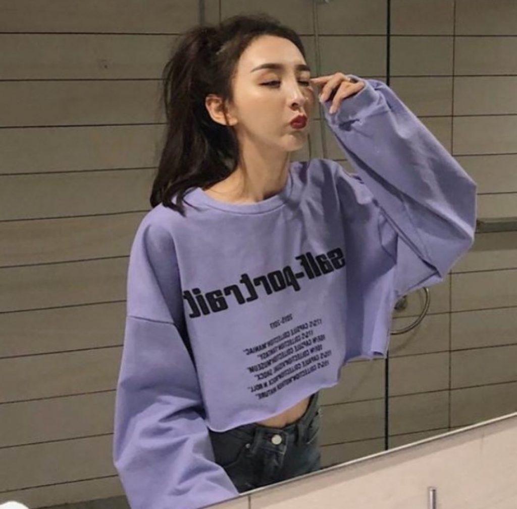 แฟชั่น เสื้อกันหนาวสีม่วง 2020 สวยชิคสุดคูล