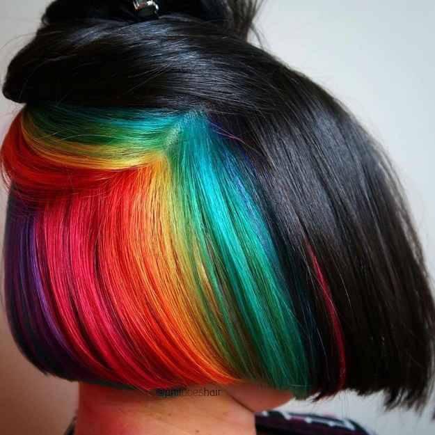 ผมซ่อนสีที่มากด้วยสีสันทำให้มีความสดใสในตัวเราเพิ่มขึ้น