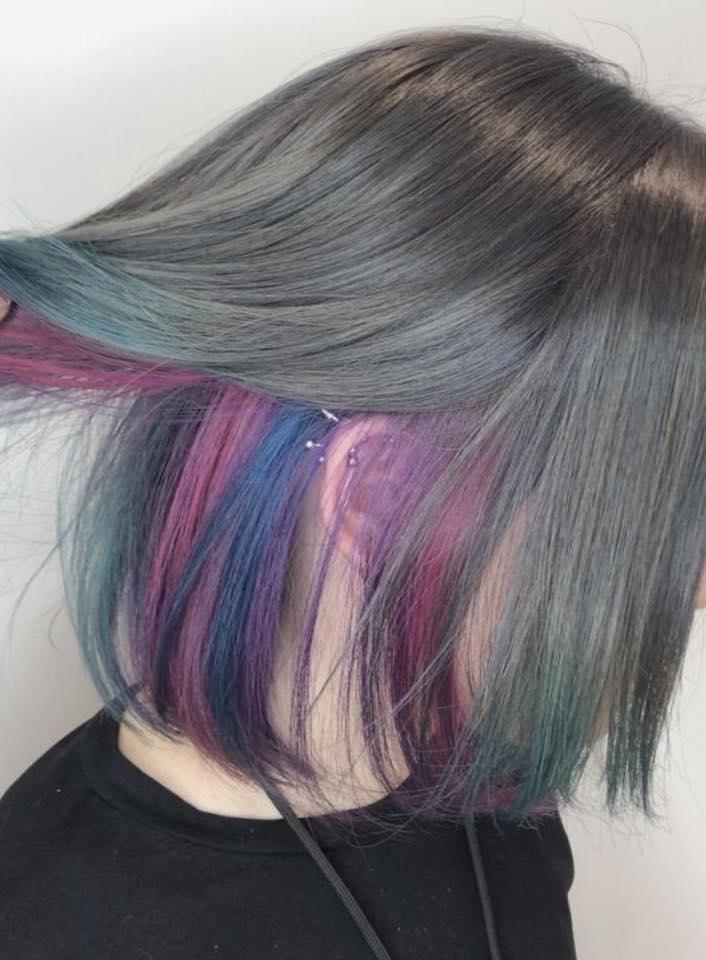 ผมซ่อนสีกับความหลากหลายของแฟชั่นสีผมของสาวๆ