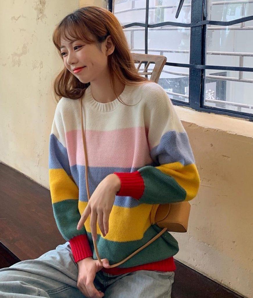เสื้อกันหนาวสีสดใสกับเสื้อไหมพรมใส่สบาย