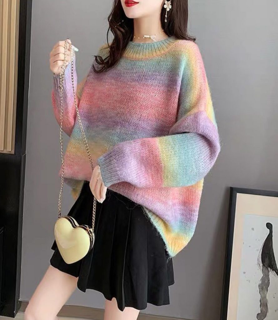 เสื้อกันหนาวสีสดใสแบบพาสเทลน่าใส่