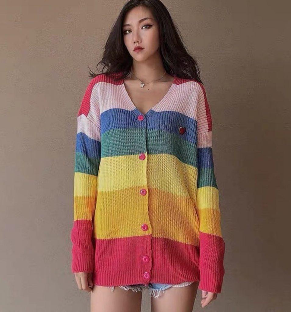 เสื้อกันหนาวสีสดใสกับแจ่มๆ