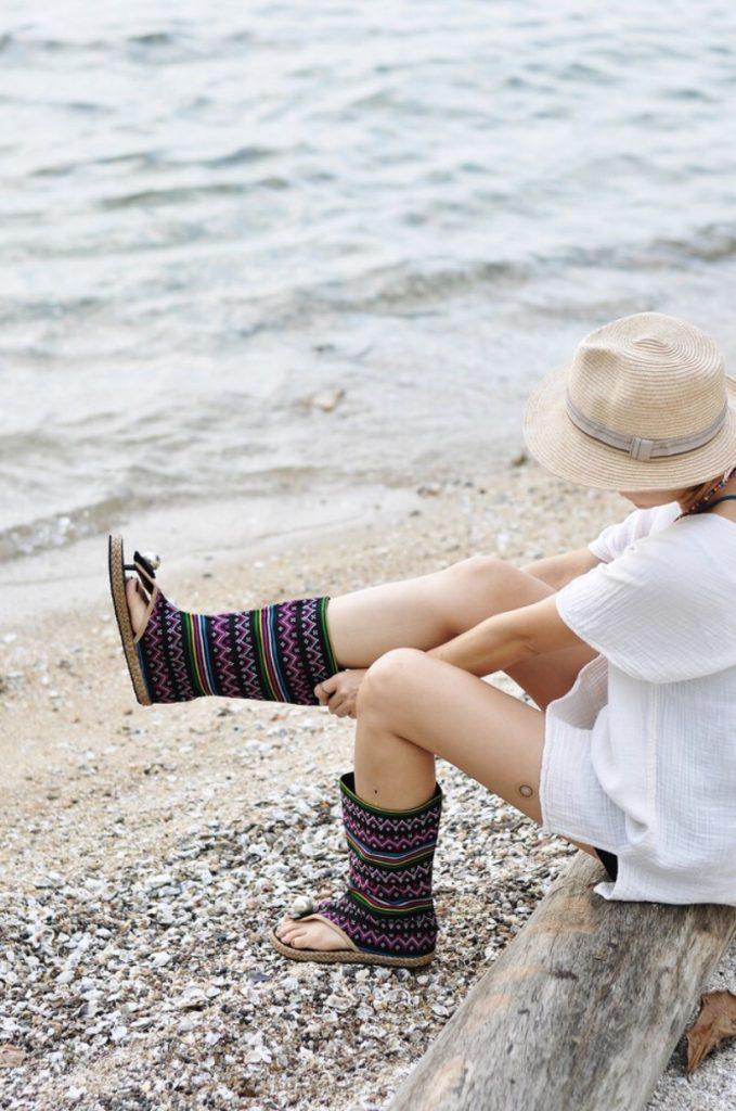รองเท้าบูทโบฮีเมียน ใส่ไปทะเลเท่สุดชิค