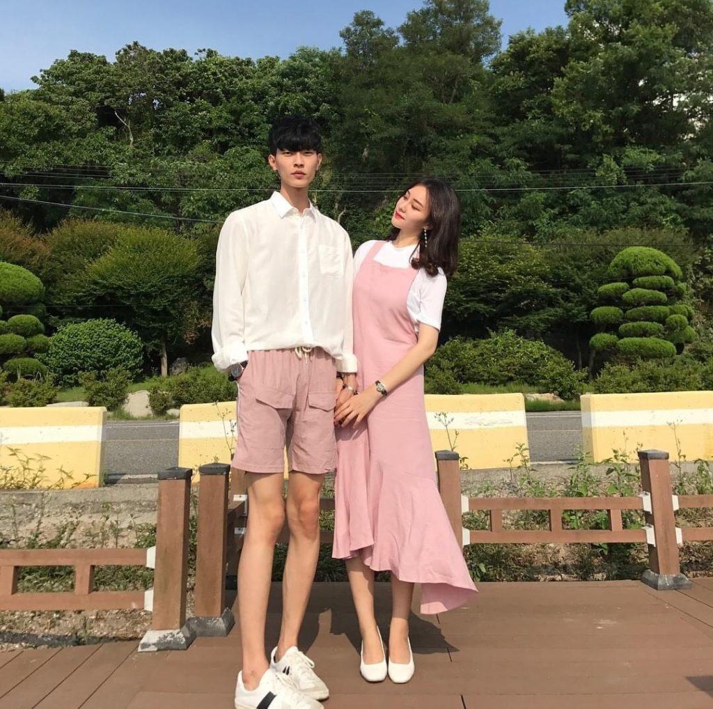 ชุดคู่กับแฟนในสีชมพูน่ารักหวานสุด