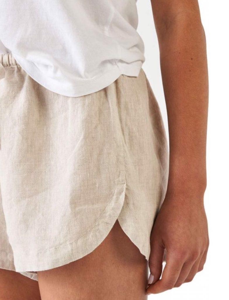 กางเกงขาสั้นแฟชั่นผ้าลินิน ใส่อยู่บ้านหรือใส่เที่ยวก็เก๋