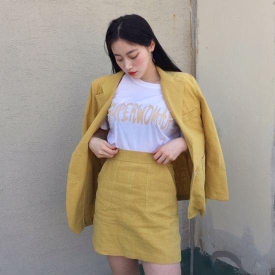 Pantone 2021กับชุดเซ็ทสีเหลืองสวยสดใส